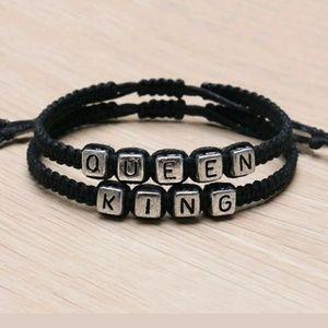 Jewelry - 💥SALE💥 Couple Bracelets - QUEEN & KING